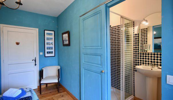 Chambre bleue - La Tulipe Sauvage